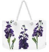 Purple Floral 2 Weekender Tote Bag