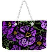 Purple Floral Fantasy Weekender Tote Bag