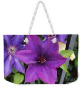 Purple Floral Weekender Tote Bag