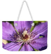 Purple Flower Weekender Tote Bag