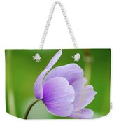Purple Flower Looking Right Side Weekender Tote Bag