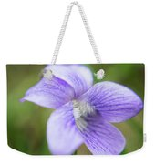 Purple Flower Macro Weekender Tote Bag