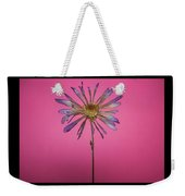 Purple Flower Pink Background Weekender Tote Bag