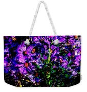 Purple Flower Still Life Weekender Tote Bag