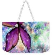Purple Flower Watercolor Doodle Weekender Tote Bag