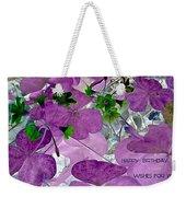 Purple Flower Wishes Weekender Tote Bag