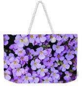 Purple Flowers - Rockcress Weekender Tote Bag