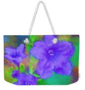 Purple Flowers 102310 Weekender Tote Bag