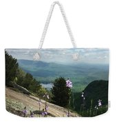 Purple Flowers At Table Rock Overlook Weekender Tote Bag by Kelly Hazel