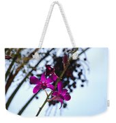 Purple Flowers In The Sky Weekender Tote Bag