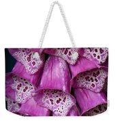 Purple Foxgloves Weekender Tote Bag by Patricia Strand