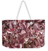 Purple Foliage Weekender Tote Bag