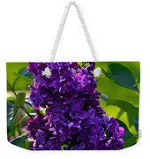Purple French Lilac Weekender Tote Bag