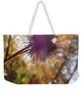 Purple Fuzzy Weekender Tote Bag