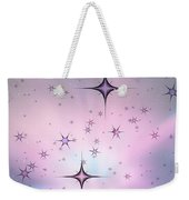Purple Galaxy Weekender Tote Bag