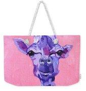 Purple Giraffe Weekender Tote Bag