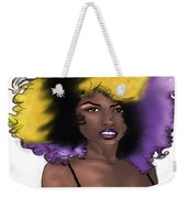 Purple Girl Weekender Tote Bag