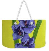 Purple Gladiolas Weekender Tote Bag