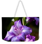 Purple Glads Weekender Tote Bag