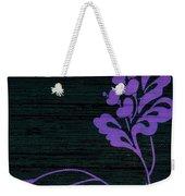 Purple Glamour On Black Weave Weekender Tote Bag by Writermore Arts