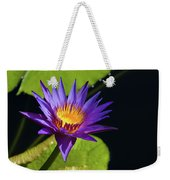 Purple Gold Weekender Tote Bag