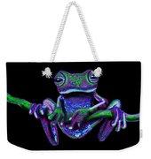Purple Green Ghost Frog Weekender Tote Bag