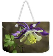 Purple Harlequin Columbine Weekender Tote Bag