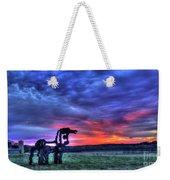 Purple Haze Sunrise The Iron Horse Weekender Tote Bag