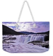 Purple Haze Waterfall Weekender Tote Bag