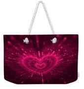 Purple Heart Valentine's Day Weekender Tote Bag