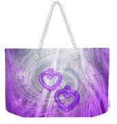 Purple Hearts Weekender Tote Bag