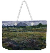 Purple Heather And Mount Errigal From Dore Co. Donegal Ireland   Weekender Tote Bag