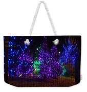 Purple Holiday Lights Weekender Tote Bag