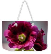 Purple Hollyhock Weekender Tote Bag