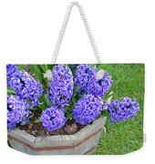 Purple Hyacinth Flowers Planter Weekender Tote Bag