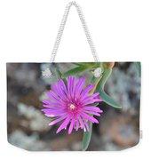 Purple Ice Flower Close Up Weekender Tote Bag