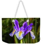 Purple Iris And Gladioli Byzantinus Weekender Tote Bag