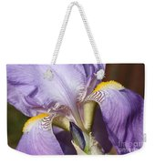 Purple Iris Beauty Weekender Tote Bag