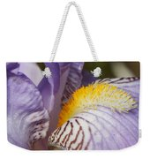 Purple Iris Closeup Weekender Tote Bag