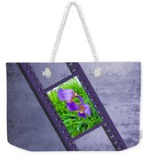 Purple Iris Passion Weekender Tote Bag