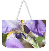 Purple Iris With Focus On Bud Weekender Tote Bag