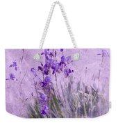 Purple Irises Weekender Tote Bag