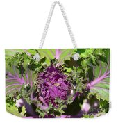 Purple Kale Weekender Tote Bag