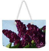 Purple Lilac 3 Weekender Tote Bag