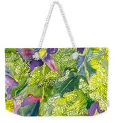 Purple Lillies And Baby's Breath Weekender Tote Bag