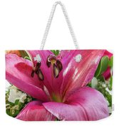 Purple Lilly In A Flower Bouquet Extreme Close-up Weekender Tote Bag