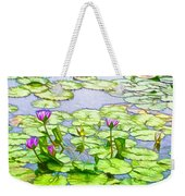 Purple Lotus Flower  Weekender Tote Bag