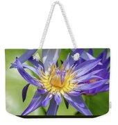 Tropical Purple Water Lily Weekender Tote Bag