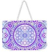 Purple Lotus Mandala Weekender Tote Bag