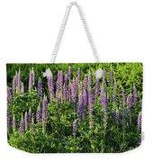 Purple Lupines In Summer Weekender Tote Bag
